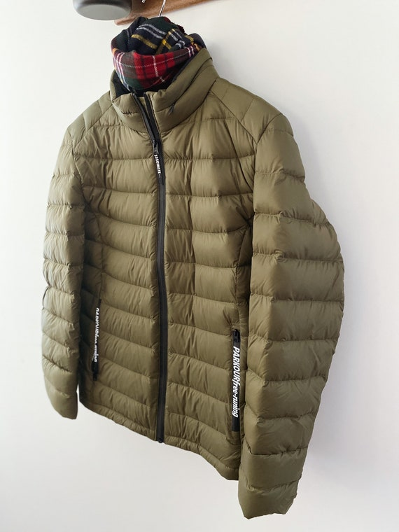 Forest green puff jacket
