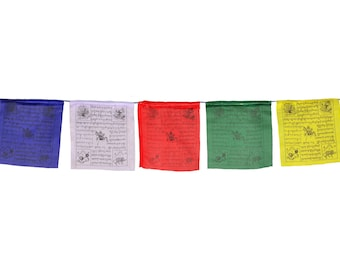 Tibetan Prayer Flags (25 sheets) 550 cm fine quality with lungta (windhorse) - handmade from Nepal | Prayer Flags | Buddhapur