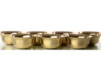 Buddhist sacrificial bowls made of brass | Handmade from Nepal