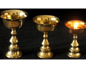 Dipa butter lamp in brass | Handmade from Nepal