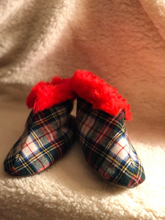 6fc827ab94021 Plaid women's indoor slippers one-of-a-kind vintage