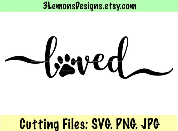 Paw Print Svg Dog Mom Dad Fur Baby Cut File Paw Print Png Etsy