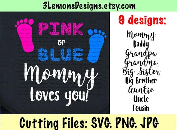 Gender Reveal Svg For Tshirt Bundle Sex Of Baby Pink Blue Etsy