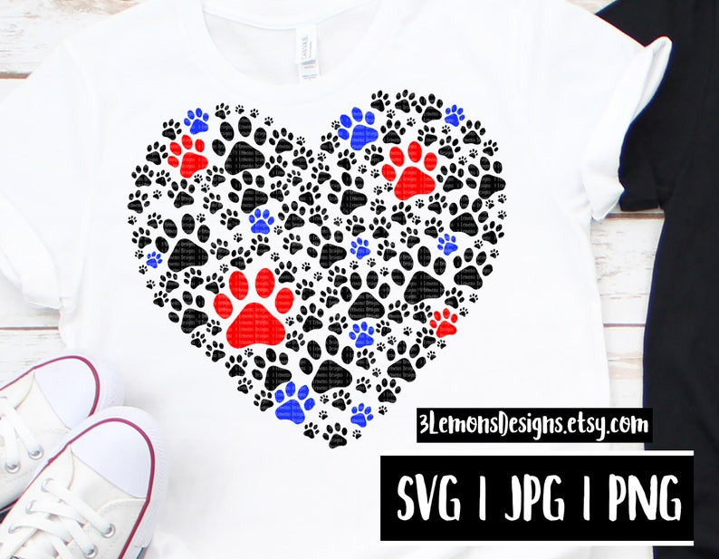 Dog heart SVG, paw print rescue mom, fur baby cut file, paw print png, dog  paw svg, dog mom, dog parent, rescued dog, adopt don't shop
