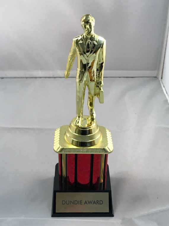 The Office Dundie Trophy Award Tv Dunder Mifflin Dundee 10 Etsy