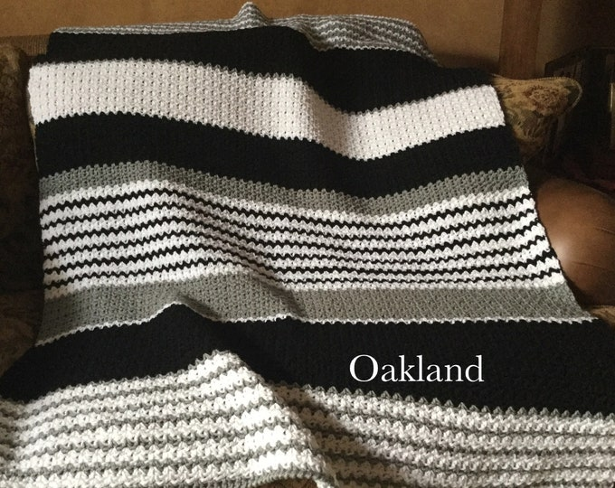 Oakland Raiders Afghan