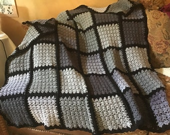 Shades of Gray Afghan