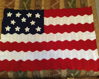 USA Flag Crochet