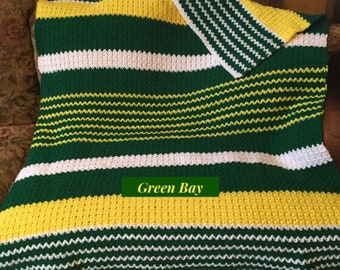 Green Bay Packers Crocheted Afghan