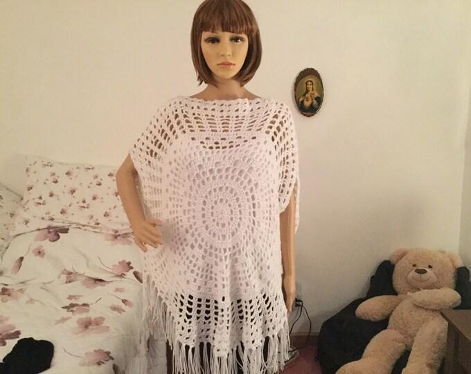 Mesh Crochet Poncho