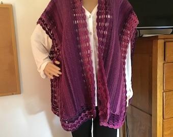 Crochet Lacy Ruana