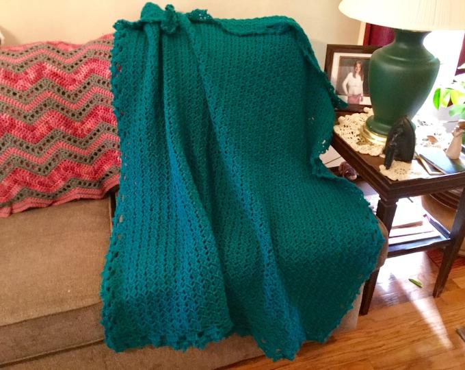 Crochet Teal Afghan