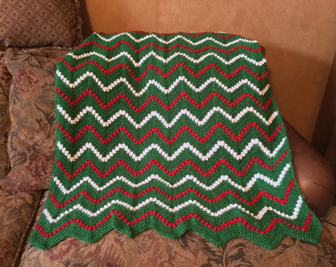Crochet Holiday Throw