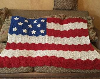 USA Flag Worn Look