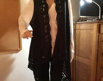 Black Lacy Vest
