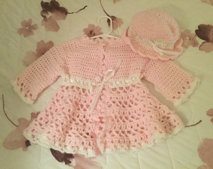 Baby Jacket and Bonnet