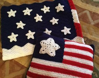 USA Pillow Crochet