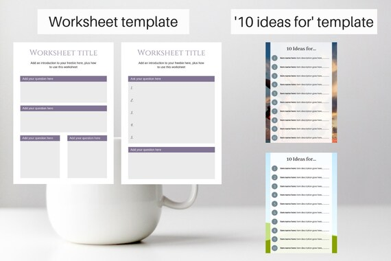 Workbook Templates for Canva   template design, digital workbook, content  upgrade, lead magnet, downloadable checklist