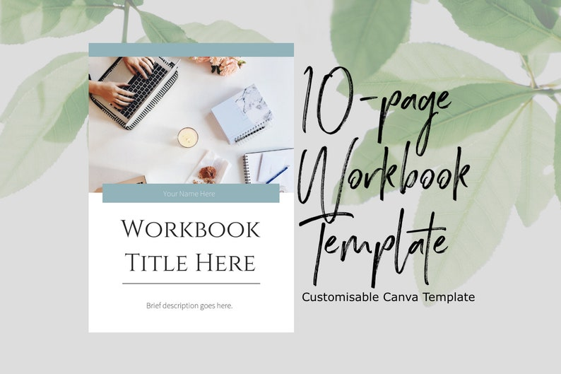 Workbook Template for Canva   lead magnet, canva template, template design,  workbook download
