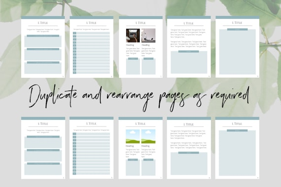 Workbook Template for Canva | lead magnet, canva template, template design,  workbook download