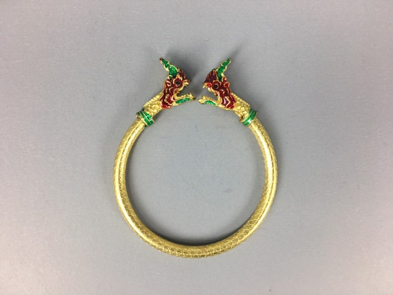 Ring Naga Yant Talisman Brass LP Buddha Luck charm Fortune Powerful Thai Amulet