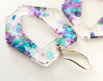 Colorful Abstract Earring | Resin |
