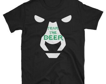 01ea96909 Deer Fear Shirt Gift For Milwaukee Basketball Bucks Fans Unisex T-Shirt