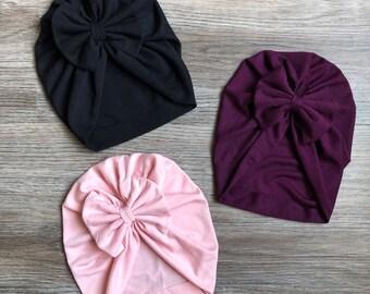 43235ec781a Top knot turban-Baby turban+hat-Top knot Headband-Turban Bow+Baby Beanie- Infant Bow- Head cover- Baby Topknot-Baby headwrap