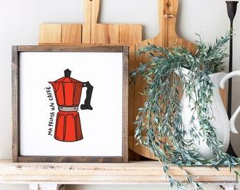 Moka Pot Coffee Art Print (Gift for Italy lovers - Italy Art Prints - Italian Coffee Wall Art - Coffee Pot Art print)