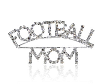 Sport Mom Theme Gift Blingbling Rhinestone Brooch