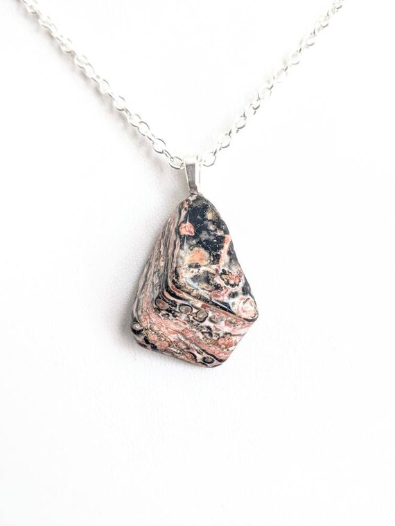 Rose Gold Tone Gem Embodied Leopard Pendant Chain Fashion Necklace Necklace Gift