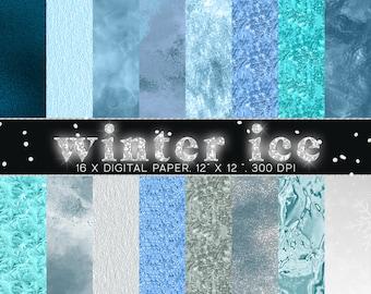 CHRISTMAS digital Paper, Winter digital paper, frost digital paper, ice digital paper, ice paper, winter paper, xmas craft paper,