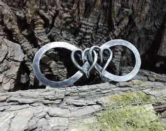 6th anniversary gift, iron anniversary gifts, personalized iron gift, iron infinity, engraved iron  gift, 6 year gifts, wedding anniversary