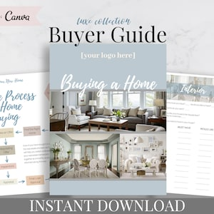 Real Estate Buyer S Packet Real Estate Home Buyer Guide Etsy