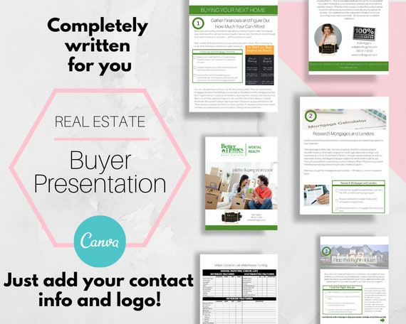 Buyer Presentation Real Estate Opt In Guide Templates Canva Canva Real Estate Marketing Lead Magnet Workbook Real Estate