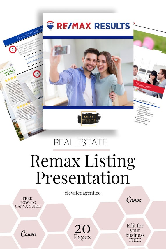 Listing Presentation Packet ReMax - ReMax Results Real Estate Guide,  Templates Canva, Canva, Real Estate Marketing, Real Estate, Realtor,