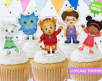 12 Daniel Tiger edible paper cupcake cookie topper Decorations PRE CUT