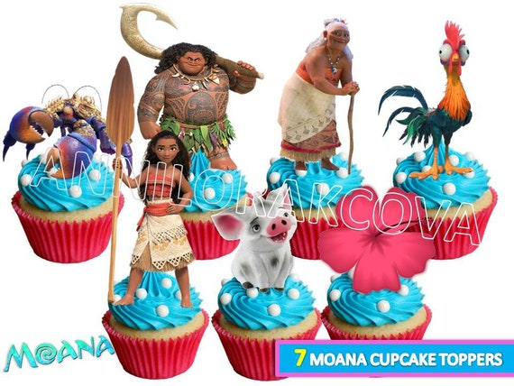 Moana Cupcake Toppers