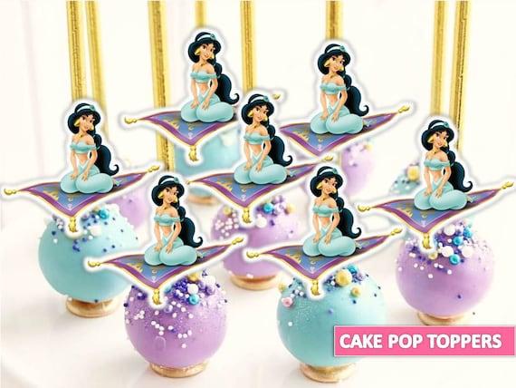 Princess Jasmine Cake Pop Topper Princess Jasmine Printables Etsy