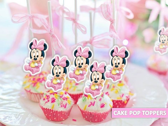 Enjoyable Baby Minnie Mouse Cake Pop Topper Baby Minnie Mouse Etsy Funny Birthday Cards Online Unhofree Goldxyz