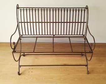 Wrought iron garden bench