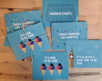 Kindness Postcards * Multi Pack of 8 Cards