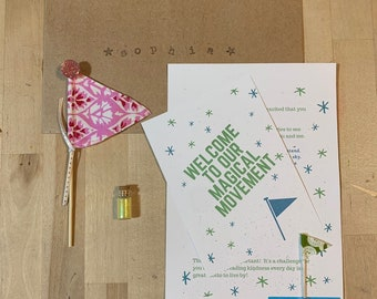 Kindness * Fairy Flags One Time Magical Mail Delivery