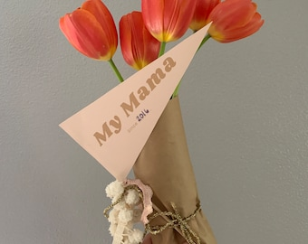 Mother's Day Printable Pennant Flags - Digital File - For That Special Mom Momma Mama
