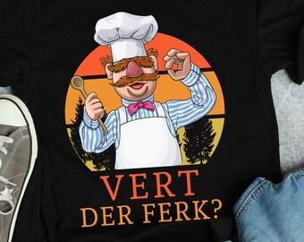 fef103f5 Funny Retro Vintage Vert Der Ferk Swedish Chef Knife Pork Pork Pork T Shirt  Gift For Men Women Her Him