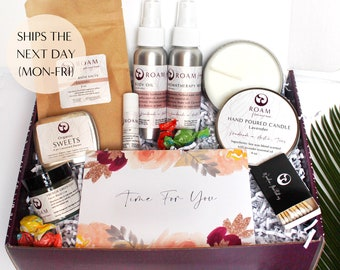 Self Care Box For Women, Organic Spa Gift Set, Friendship Gift, Thinking of You Gift, Send a Gift Spa Set (T48SB)