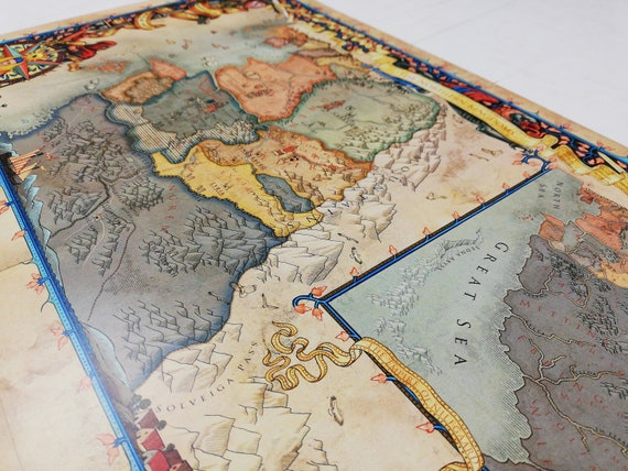 The Northern Kingdoms Map - The world map of The Witcher, High Quality A3  Print