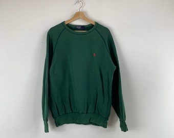 95ddc05bf6226 Vintage Polo Ralph Lauren Sweatshirt big logo spell out