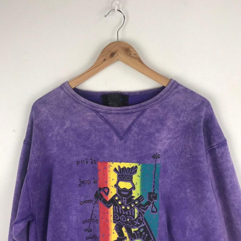 Vintage Ski Acid Wash Sweatshirt Rare Design