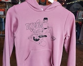 Girl Skateboarding Youth Pink Hoodie